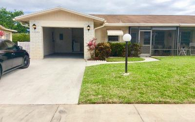 Delray Beach FL Single Family Home For Sale: $229,900