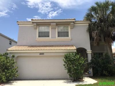 Royal Palm Beach Single Family Home For Sale: 2093 Reston Circle