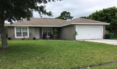 Port Saint Lucie Single Family Home For Sale: 156 SW Todd Avenue