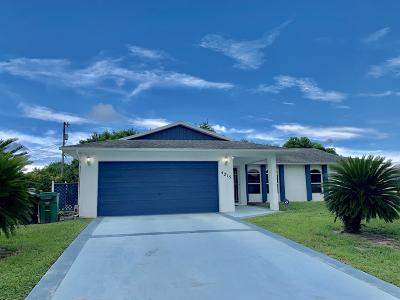 Port Saint Lucie Single Family Home For Sale: 4215 SW Jarmer Road