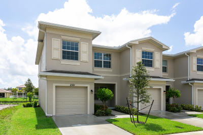 Port Saint Lucie Townhouse For Sale: 2591 NW Treviso Circle
