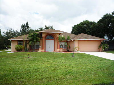 Port Saint Lucie Single Family Home For Sale: 1325 SW Bartell Avenue