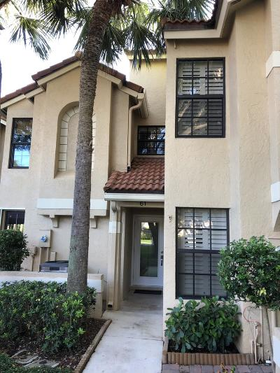 Palm Beach Gardens Townhouse For Sale: 2299 Treasure Isle Drive #A61