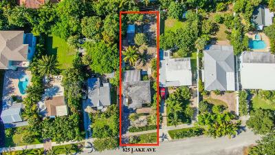 Delray Beach Single Family Home For Sale: 825 Lake Avenue
