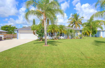 Fort Pierce Single Family Home Contingent: 5207 Feather Creek Drive