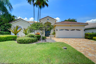 Boca Pointe Single Family Home For Sale: 7606 La Corniche Circle