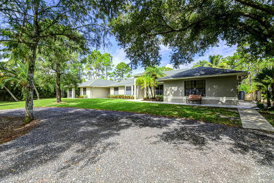 Loxahatchee Single Family Home Contingent: 3115 Cheetham Hill Boulevard