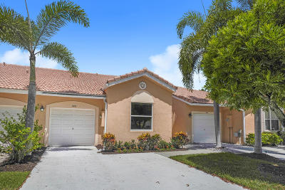 Delray Beach Single Family Home Contingent: 386 Coral Trace Lane