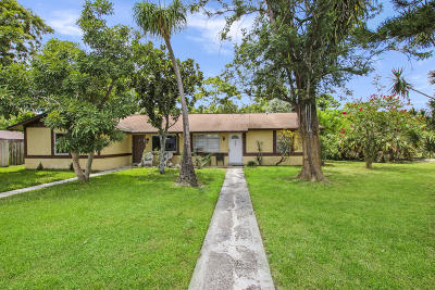 Palm Beach Gardens Single Family Home For Sale: 4855 Arthur Street
