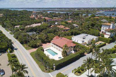 Palm Beach Single Family Home For Sale: 1080 S Ocean Boulevard