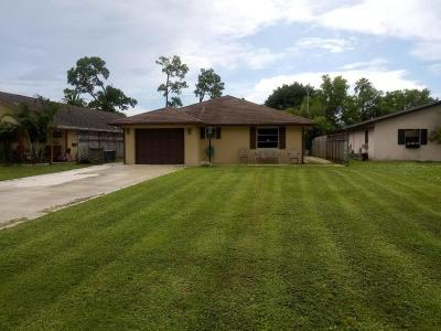 Lake Worth Single Family Home Contingent: 6904 Clendenin Street