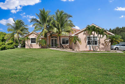 Jupiter Single Family Home For Sale: 15889 110th Avenue