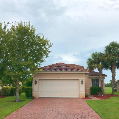 Port Saint Lucie Single Family Home Contingent: 670 NW Stanford Lane