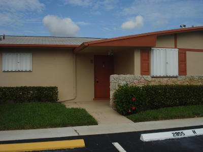 West Palm Beach Single Family Home For Sale: 2955 W Crosley #H