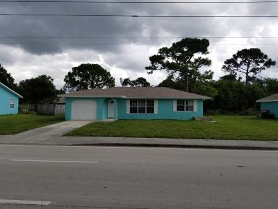 Single Family Home For Sale: 581 SE Port St Lucie Street SE