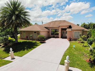 Port Saint Lucie Single Family Home For Sale: 2602 SW Fair Isle Road