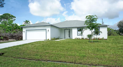 St Lucie County Single Family Home For Sale: 386 SW South Quick Circle