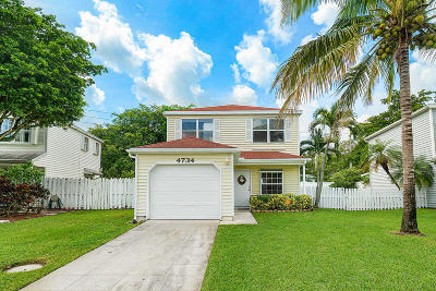 West Palm Beach Single Family Home For Sale: 4734 Lakeside Circle
