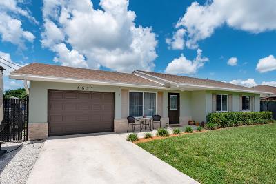 Lake Worth, Lakeworth Single Family Home For Sale: 6625 Venetian Drive