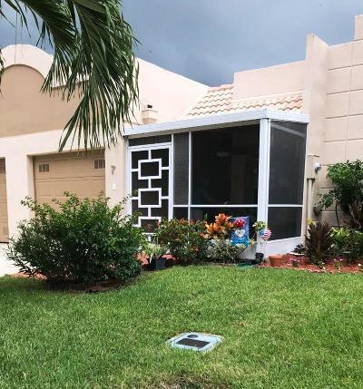 Boca Raton Single Family Home For Sale: 9110 Fairbanks Lane #7
