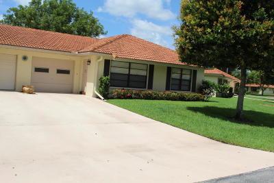 Boynton Beach Single Family Home For Sale: 4620 Apple Tree Circle #B