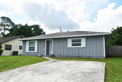 Jupiter Single Family Home For Sale: 6097 Eberts Street