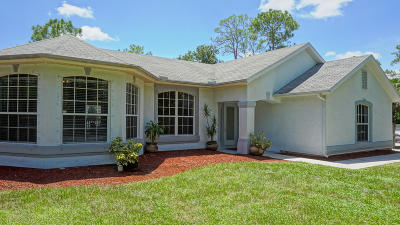 Palm City Single Family Home For Sale: 6104 SW Woodham Street