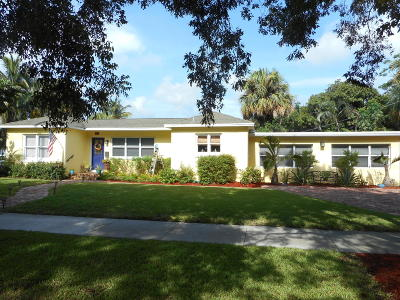 West Palm Beach Single Family Home For Sale: 1815 Lake Avenue