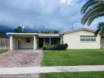 Deerfield Beach Single Family Home Contingent: 923 SE 16th Place