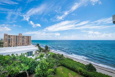 Highland Beach Condo For Sale: 4605 S Ocean Boulevard #7c