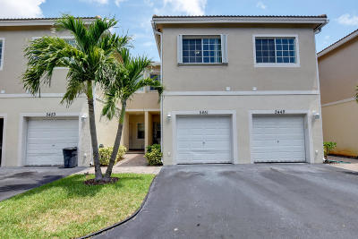 Delray Beach Townhouse For Sale: 5451 Via Delray