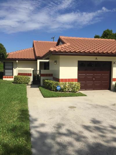 Boynton Beach Single Family Home For Sale: 10631 Palm Leaf Drive #A
