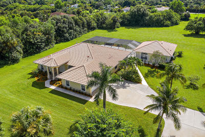 Jupiter Single Family Home For Sale: 15096 Jupiter Farms Road