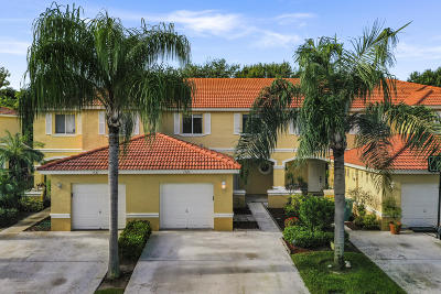 Boynton Beach Townhouse For Sale: 1523 Arezzo Circle
