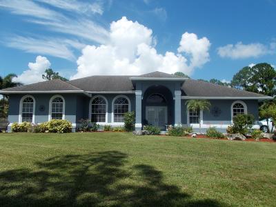 Loxahatchee Single Family Home For Sale: 6085 Apache Boulevard