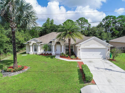 Port Saint Lucie Single Family Home For Sale: 1629 SW Fortune Road
