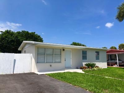 West Palm Beach Single Family Home For Sale: 1369 7th Street
