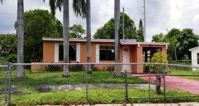 Boynton Beach Single Family Home For Auction: 3185 Orange Street