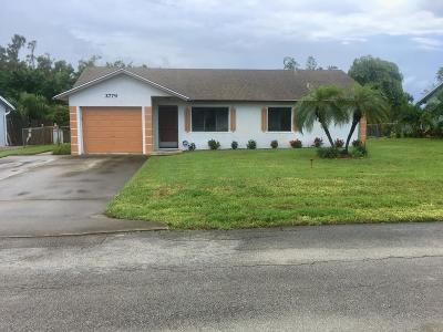 Lake Worth Single Family Home For Sale: 2779 Park Dr Drive