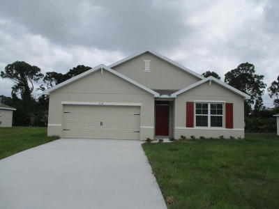 Port Saint Lucie Single Family Home For Sale: 838 SW Jennifer Terrace