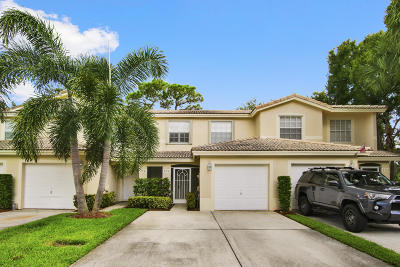 Jupiter Townhouse For Sale: 354 Timberwalk Trail
