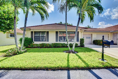 Boynton Beach Single Family Home For Sale: 4665 Rosewood Tree Court #A