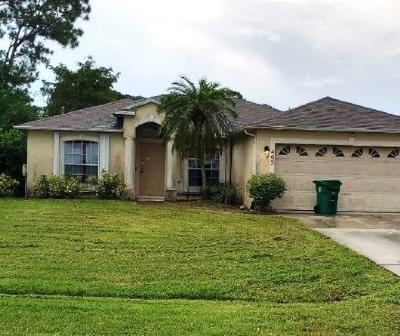 Port Saint Lucie Single Family Home For Auction: 402 SE Wallace Terrace