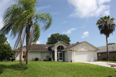 Port Saint Lucie Single Family Home For Sale: 4502 NW Alsace Avenue
