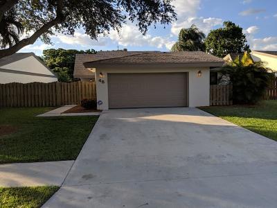 Boynton Beach Single Family Home For Sale: 45 Baytree Circle