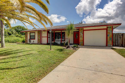 Port Saint Lucie Single Family Home For Sale: 1761 SE Manth Lane