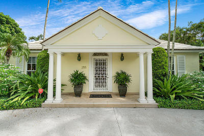 Palm Beach Single Family Home For Sale: 255 Plantation Road
