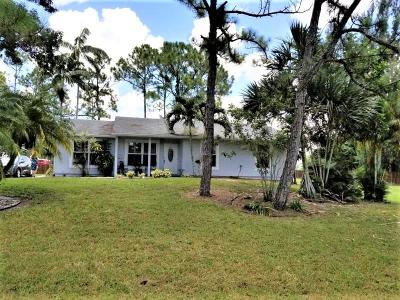 West Palm Beach Single Family Home For Sale: 13919 63rd Lane