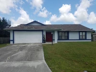 Port Saint Lucie, Saint Lucie West Single Family Home For Sale: 511 SE Tanner Avenue