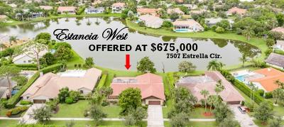 Boca Raton Single Family Home For Sale: 7507 Estrella Circle